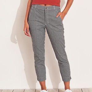 Gingham hollister pants